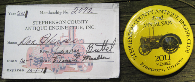 Membership card and button